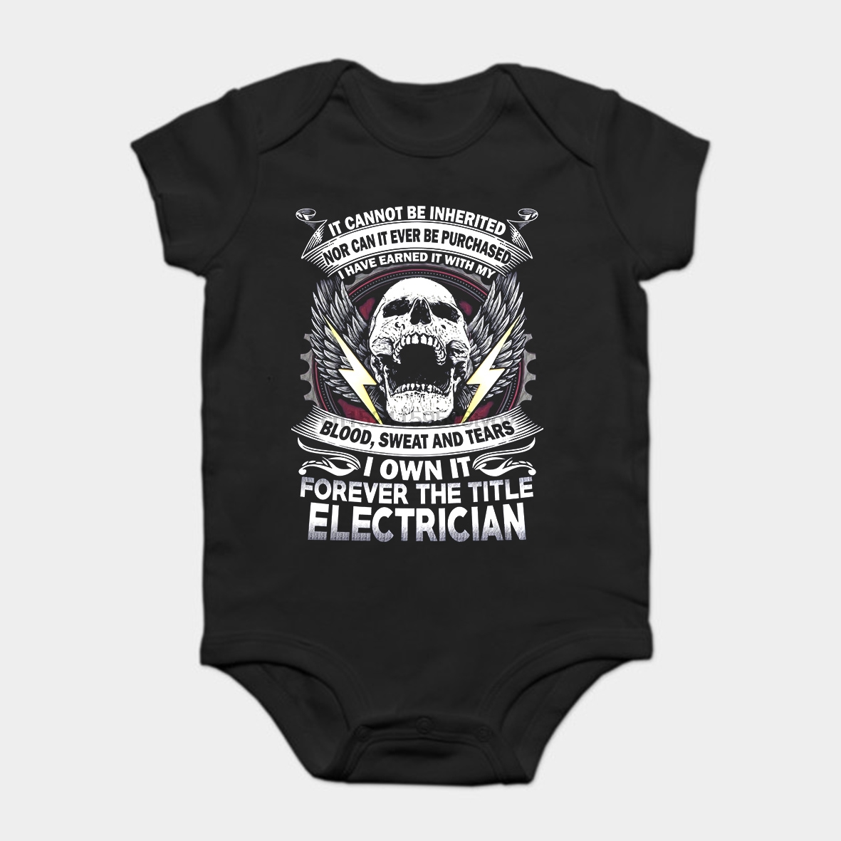 Baby Onesie Baby Bodysuits Kid T Shirt Funny Novelty Electrician Forever The Title Cool Good Heat Preservation