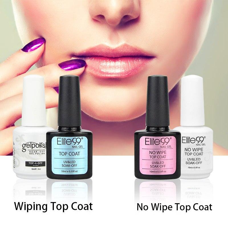 Elite99 No Wipe / Wiping Top Coat UV Top Coat Gel Nail Art Salon ...