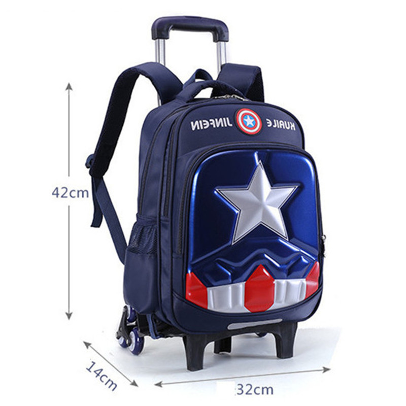 Removable Children School Bags with 3 Wheels for Boys Girls Trolley Backpack Kids Wheeled Bag Bookbag travel luggage Mochila