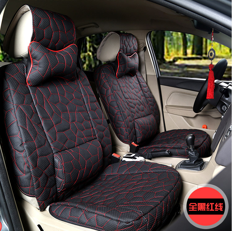 2016 Auto Supply 5 Pieces Set Real Cow Leather Car Seat Cover Cushion Four Seasons Genuine Covers In Automobiles From
