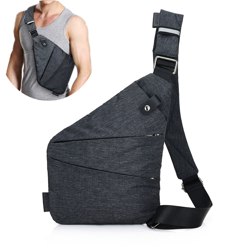 SAFEBET Men Anti Theft Safety Underarm Sport Travel Storage Bags Business Burglarproof Shoulder Bag Canvas Chest Bags For Phone