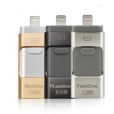USB Flash Drive for iphone 7 6s 6 Plus 5 S ipad Pendrive OTG 8g 16gb 32gb 64gb 128gb Pen drive HD external storage memory stick