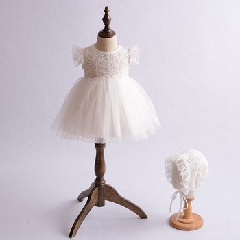 Princess dress for baby girl summer baby clothes white lace infant clothes 1 2 years birthday wedding dress newborn kids dresses