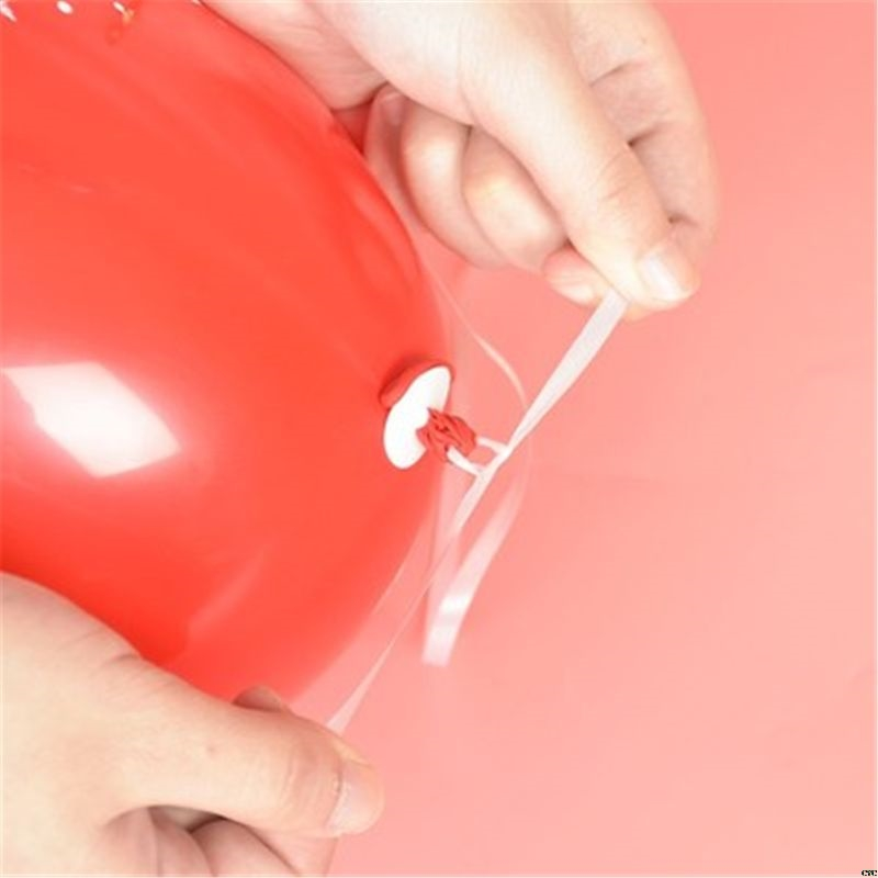 50 Balloon Caps Helium With Polyband White Balloon Strap With Quick Release Balloon Closure