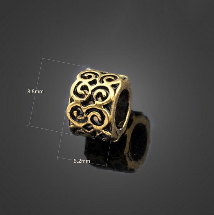 Breloques, bracelets breloques 10pc Sterling Silver Ring Espace Spacer Bead for European histoire Bracelet Breloque