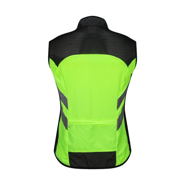 Cycling Bicycle Reflective Vest Bike Safety Clothes Windproof Warning High  Visibility Jacket Waistcoat Team Uniform Riding Vest dd3ac6c7f