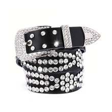 2019 Fashion Leather Bling Rhinestone Crystal Western Cowgirl Belt  Waistband Women Girl 10 3.3CM e781fe4d99d6