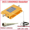 Newest Mini 70dB LCD 2G 4G LTE GSM DCS 1800MHz Mobile Phone Signal Repeater ,Cellular signal booster with indoor outdoor antenna