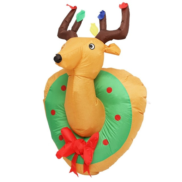 Christmas Inflatable Hanging Reindeer 4 Feet Xmas Home Yard Blow Up  Decoration For Holiday Decor
