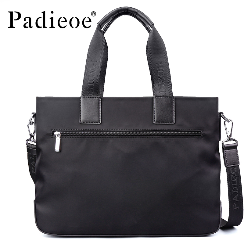 Brand Padieoe Handbag Men Nylon Briefcase Fashion Shoulder Bags Business Casual Crossbody Bag Tote Bag Men's Messenger Bags vintage crossbody bag military canvas shoulder bags men messenger bag men casual handbag tote business briefcase for computer