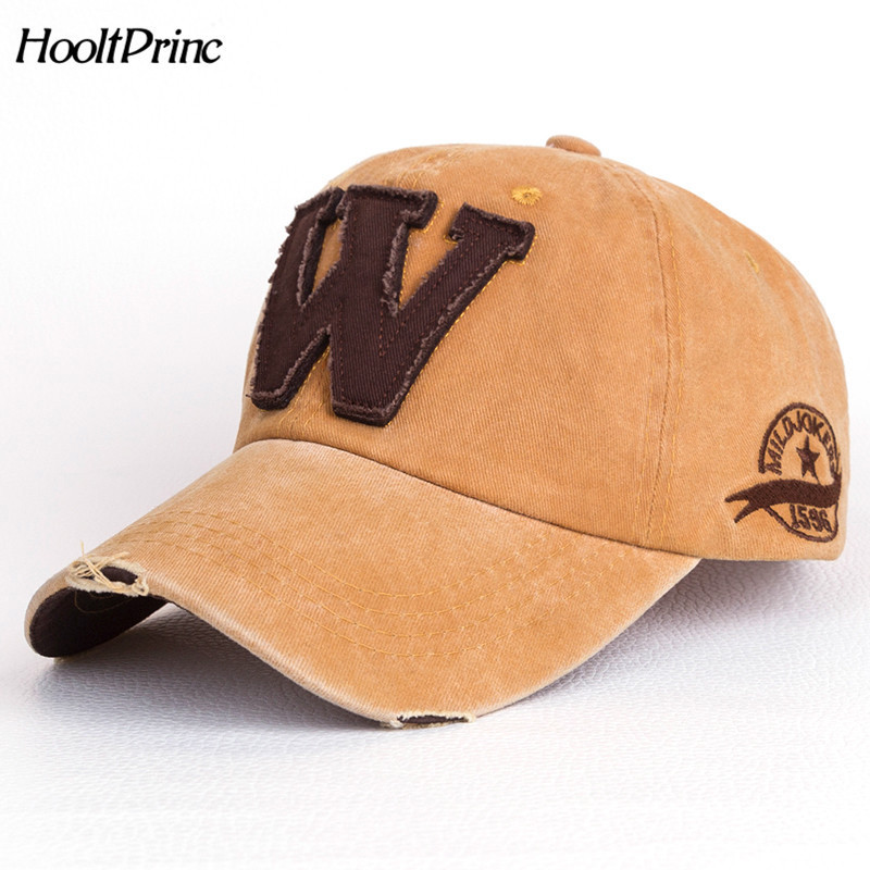 Bone Outdoor Hat Cotton Casual Embroidery Letter W Baseball Cap For Men Women Snapback Sports Caps Letter Baseball Cap gold embroidery crown baseball cap women summer cap snapback caps for women men lady s cotton hat bone summer ht51193 35