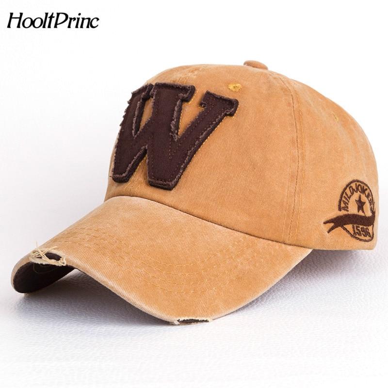 Bone Outdoor Hat Cotton Casual Embroidery Letter W Baseball Cap For Men Women Snapback Sports Caps Letter Baseball Cap