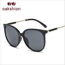 b2d45387f2 Oakshion marca diseñador mujeres Classic CAT EYE Gafas de sol vintage  grande Marcos UV400 Sol Gafas pasarela lentes de sol 2018