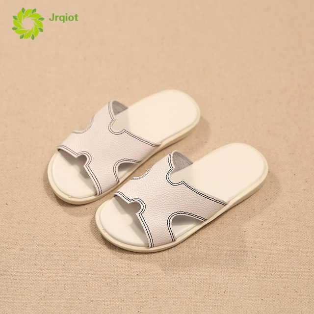JRQIOT 2017 Summer New Children Shoes Casual H Word Cool Slippers Boys And Girls Word Drag Sand Beach Kids Shoes