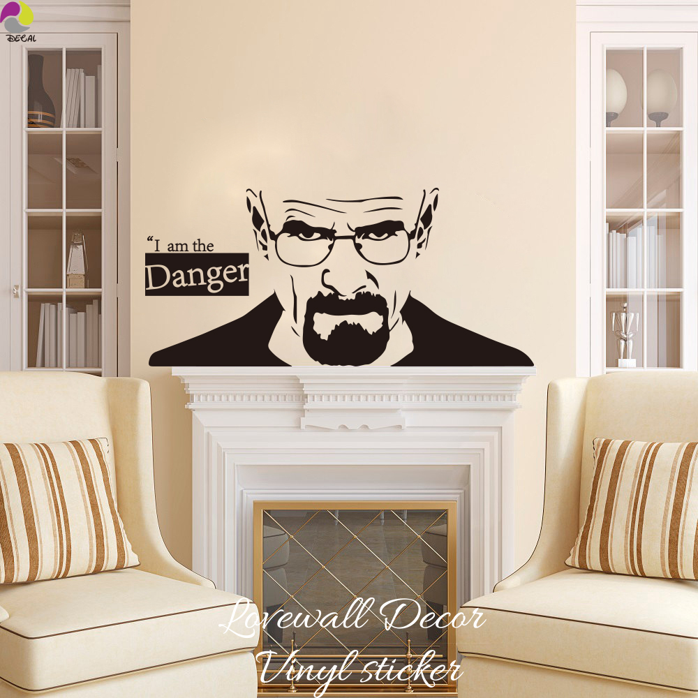 Wall decal breaking bad wall decal inspiring wall decor ideas breaking bad heisenberg wall sticker kitchen bedroom sofa i am the amipublicfo Choice Image