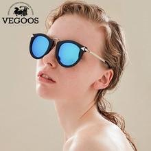Vegoos реальная поляризованные Для мужчин и Для женщин Кошачий глаз Стиль Солнцезащитные очки для женщин УФ-защитой круглый бренд Дизайн очки женский Защита от солнца Очки #6107