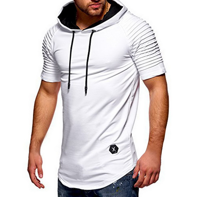 SHUJIN Men   T     Shirt   2019 Summer Fashion Hooded Sling Short-Sleeve Tee Male   T  -  Shirt   Slim Male Tops Camisa Masculina Plus Size 3XL