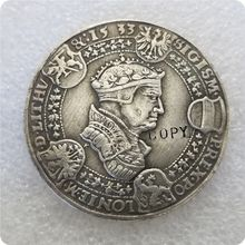 Polónia Lituânia-THALER 1533-Sigismund Avgust-CÓPIA Moeda moedas comemorativas-moedas réplica medalha moedas colecionáveis