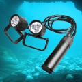 Super Bright 20000Lumen Professional Diver lamp diving flashlight 3modes (Low-Mid-High) ,1 year Warranty