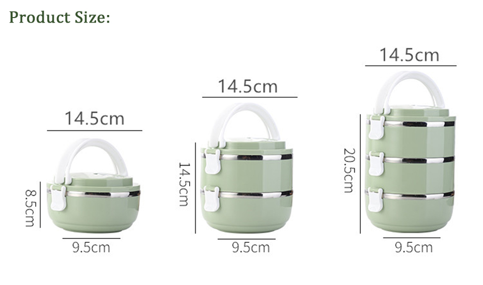 LIYIMENG 304 Stainless Steel Japanese Lunch Box Thermal For Food Portable LunchBox For Kids Picnic Office Workers School19