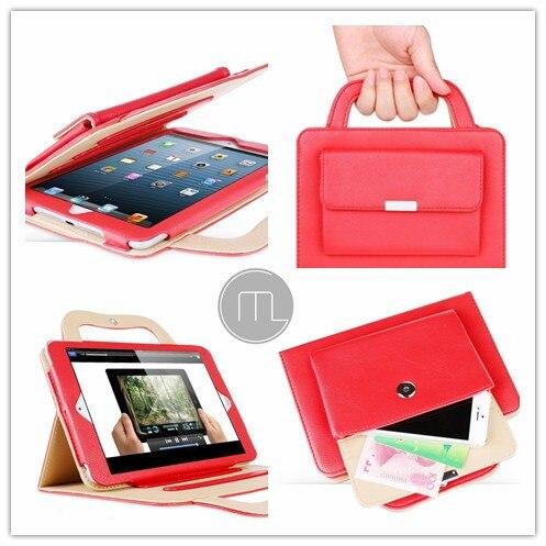 100% Бренд ГУМИ НОВАЯ Сумка Портативный чехол Для iPad Mini Кошелек Кожаный Чехол, 6 Цвет + защитные пленки + стилус