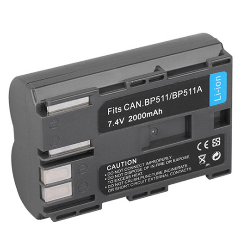 High Capacity 2000mAh <font><b>BP</b></font>&#8211;<font><b>511A</b></font> <font><b>BP</b></font> <font><b>511A</b></font> BP511A Repalcement Camera <font><b>Battery</b></font> For Canon 40D 300D 5D 20D 30D 50D <font><b>BP</b></font>-512 <font><b>BP</b></font>-508 ZR30
