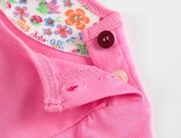 VIDMID Baby Girls t-shirt Short Sleeve Kids Clothes Brand Summer Tee T-Shirt Baby Girls Clothing bunny t shirt  Embroider 5