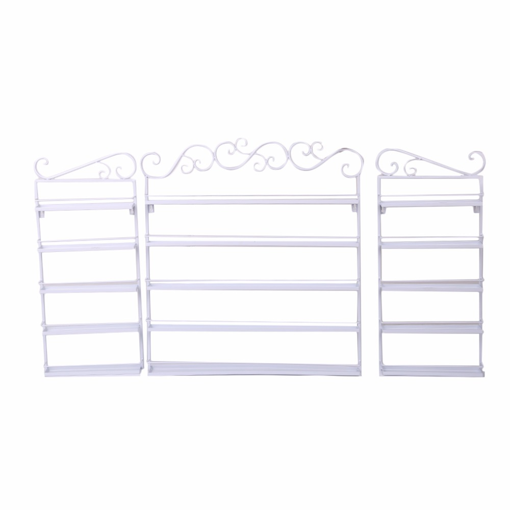 5 Layers Durable Metal Wire Big Size Nail Polish Display Organizer Wall Rack Hold 120 To 180 Bottles Nail Art Manicure Show Tool