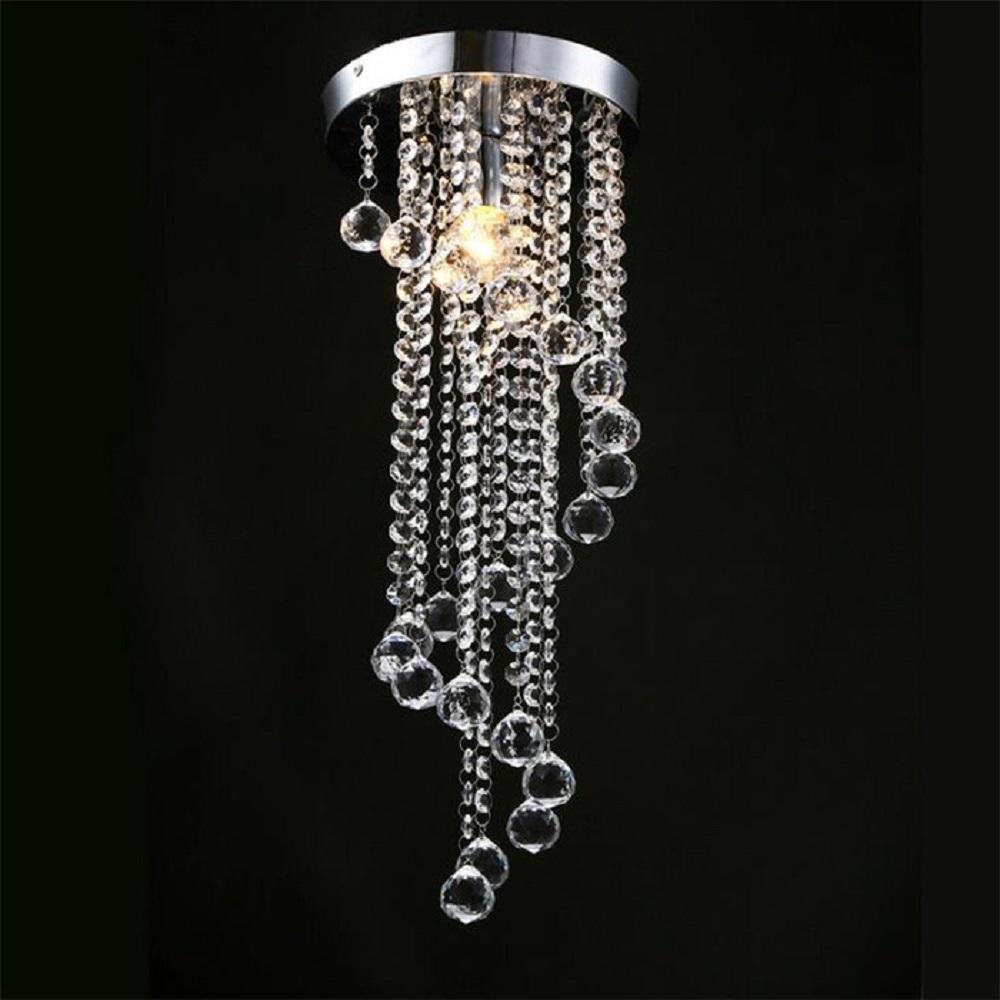 Nouveau moderne penthouse villa escalier led lumières plafonniers en cristal longue spirale escalier restaurant lumières salon