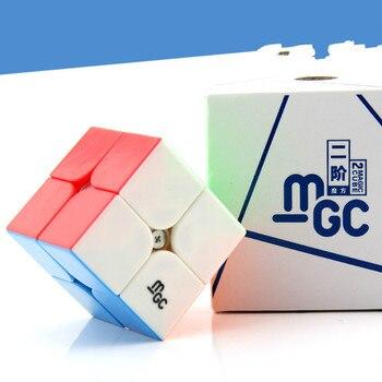 YJ YONGJUN MGC 2x2x2 Từ Khối Đỏ Stickerless YJ MGC 2x2 Tốc Độ Khối Lập Phương cho Bé Rèn Luyện Trí Não Đồ Chơi Dành Cho Trẻ Em Kids