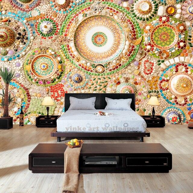 Moderno murales 3D photo wallpaper per soggiorno camera da letto TV ...
