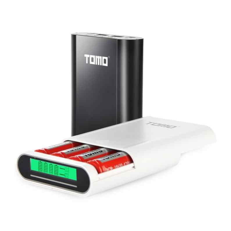 تومو S4 USB ليثيوم أيون شاحن بطارية ذكي LCD DIY المحمول علبة صندوق شحن دعم 4x18650 بطاريات و نواتج الهاتف