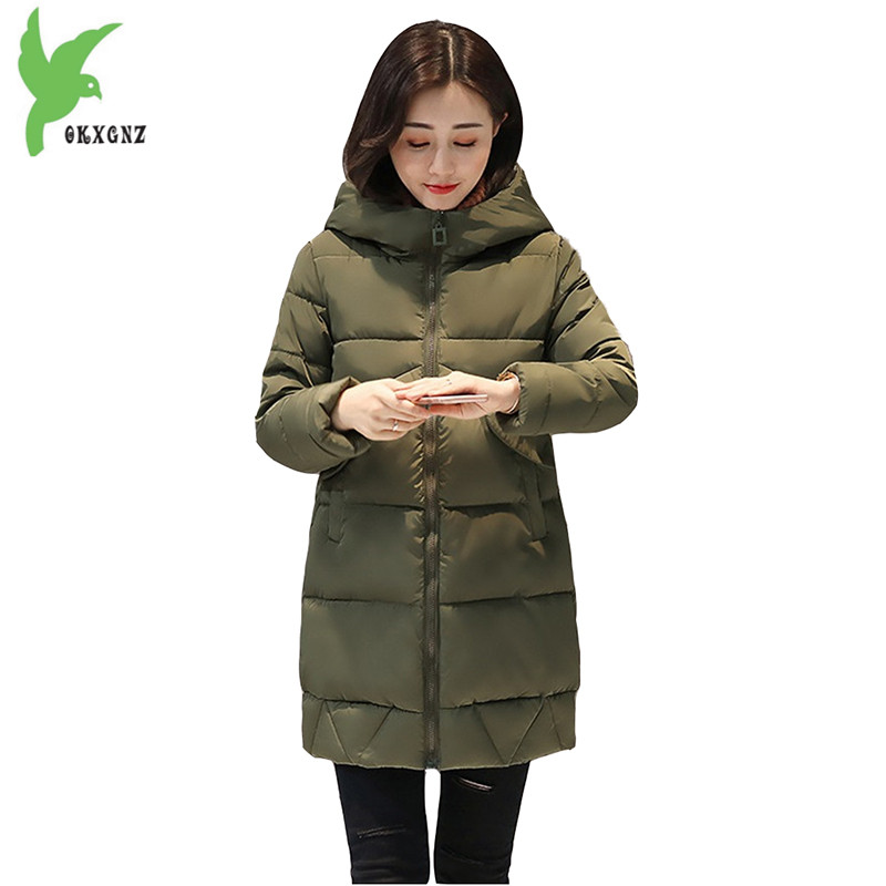 Heat Sell New Women's Winter Down Cotton Jacket Fashion Solid Color Hooded Thicker Casual Costume Plus Size Slim Coat OKXGNZ 908 цены онлайн