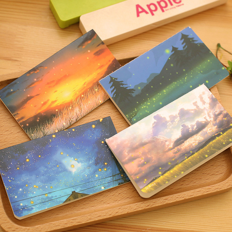 Cute Papelaria South Korea Stationery For Creative Cartoon Fireflies Notebook Laptop Students Prizes Wholesale Workbook