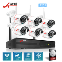 ANRAN CCTV P2P 8CH NVR Outdoor Day Night 24 IR 720P Network IP Wireless WIFI Camera