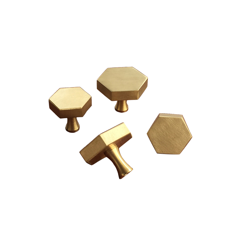 gold Antique Brass Hexagon Knobs Cabinet Knob Handle Dresser Knobs Drawer Pulls Kitchen Furniture Hardware dresser knob pull drawer pulls knobs handles antique bronze kitchen cabinet door knobs handle furniture hardware drop ring