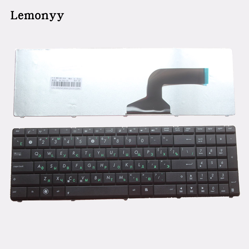 NEW Russian Laptop Keyboard FOR ASUS K53 X55A X52F X52D X52DR X52DY X52J X52JB X52JR X55 X55C X55U K73B NJ2 RU Black