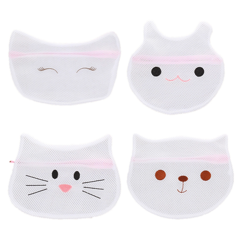 Embroidered Cartoon Animal Head Clothes Laundry Bag Thickened Polyester Laundry Bag Hamper