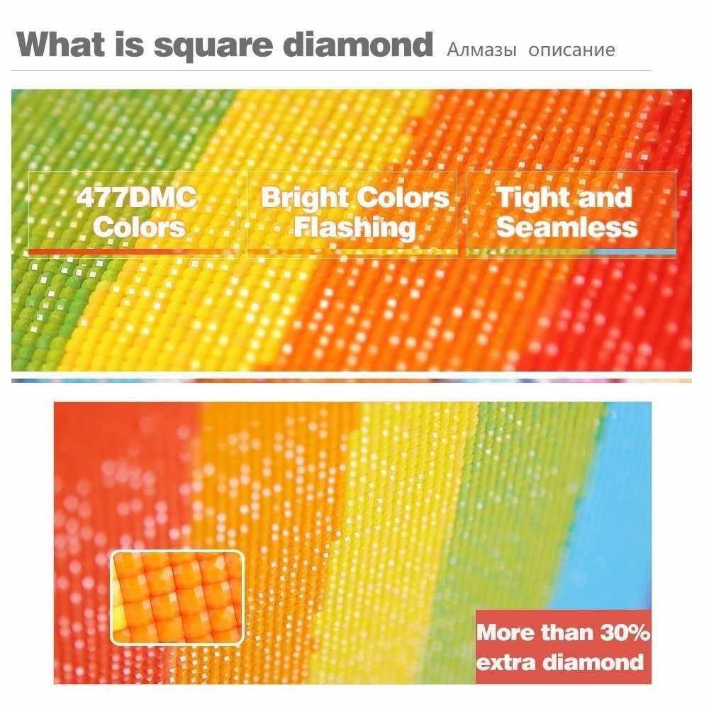Evershine diament haft klapki diament mozaika ściegu 5D DIY pełna plac diament malarstwo Cartoon wystrój domu