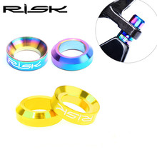 RISK Mtb Bike Disc Brake Caliper Bolt Gasket Titanium M6 Bicycle Fixed For SXHIMANO XTR XT M8000 Accessory