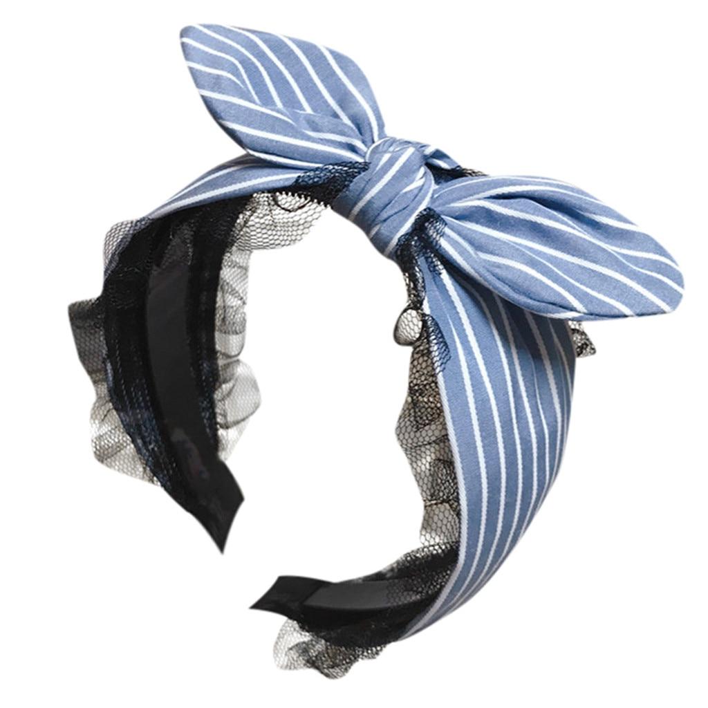 Fashion Women Girls Big Bowknot Ribbon Bow Head Band Hair Accessory Headband