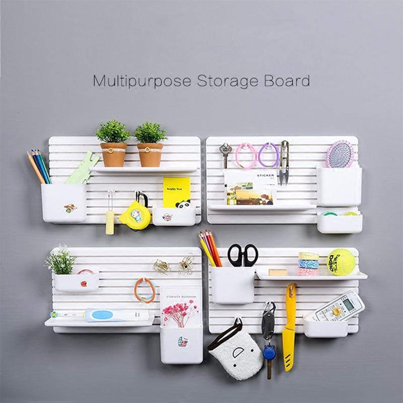 DIY Free Combination Dormitory storage Artifact Shelf Plastic Floor Living Room Kitchen Bathroom Storage Rack Home Organization
