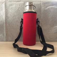 1000 мл переноска для бутылки с водой, изолированный чехол, Сумка с держателем, сумка с ремешком, фирменная Новинка, уличная вода для бутылки, силиконовые крышки для кружек