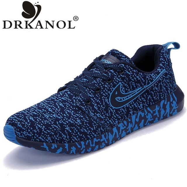 Hot men shoes flat breathable fly weave air mesh walking shoes comfortable lightweight summer casual shoes zapatillas hombre