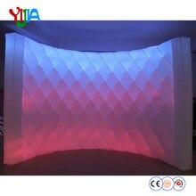 DHL доставка 10ft L яркий сияющий алмаз Форма надувные светодиодный стены PhotoBooth фоне стены с светодиодный полоски для вечерние события