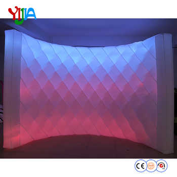 DHL Shipping 10ft L Bright Shining Diamond Shape Inflatable LED Wall PhotoBooth Backdrop Wall With LED Strips For Party Events - DISCOUNT ITEM  0% OFF All Category