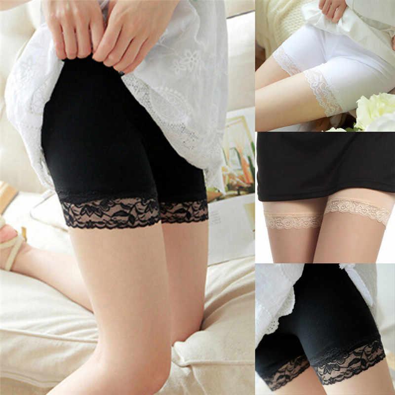 b57adc84a1ac 1 шт. безопасности Шорты Для женщин удобные безопасности Короткие штаны  Новая летняя юбка кружева Нижнее