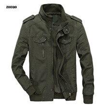 Мужские куртки и пальто в стиле милитари, куртки-бомберы, Jaqueta Masculina, повседневная мужская Осенняя хлопковая куртка размера плюс