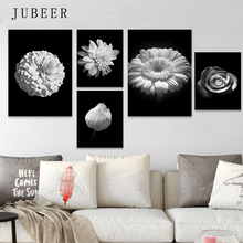 Scandinavian Style Poster Black and White Flower Canvas Painting Posters on The Wall Modern For Living Room Decoration Pictures