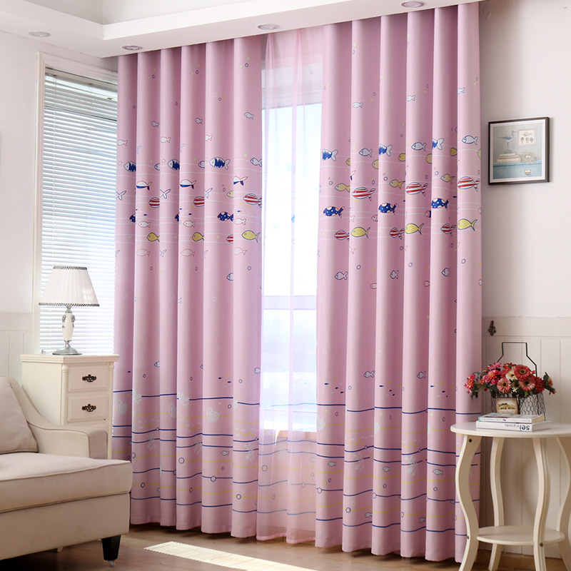 Baby Nursery Curtains Pink Curtains Kids Curtains Pair: Aliexpress.com : Buy Kids Cartoon Fish Pink Curtains